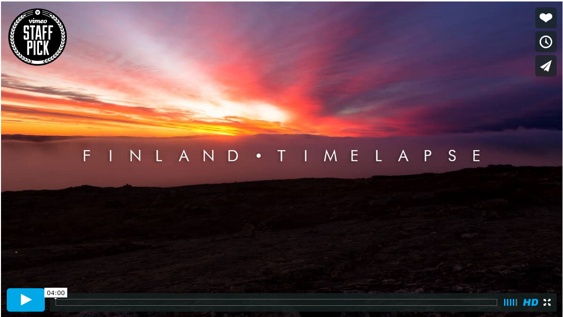 A Student's Passion Project – Breathtaking Time-Lapse Video of Finland Featured on Vimeo's Front Page
