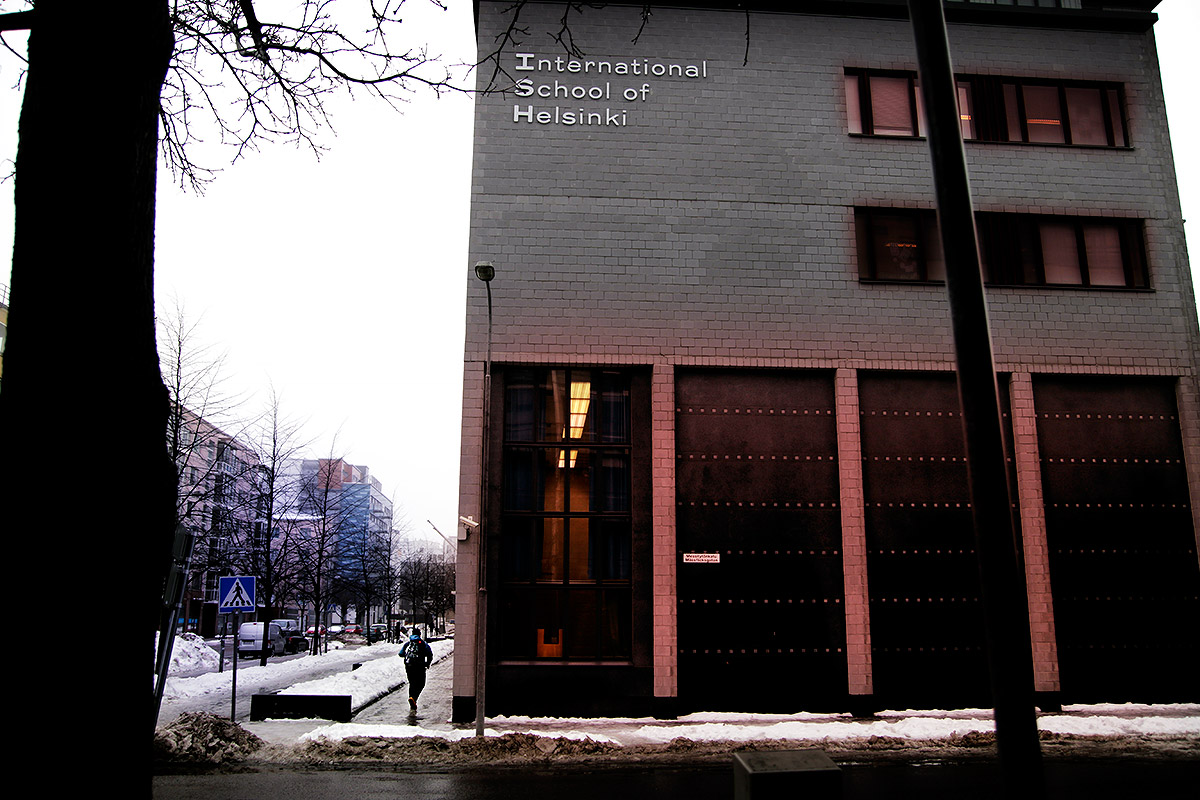 The International School of Helsinki in Ruoholahti received a bomb threat on Tuesday January 26 2016. Picture: Tony Öhberg for Finland Today