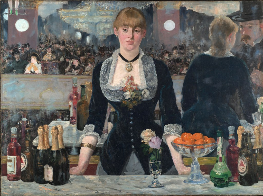 Édouard Manet's 'A Bar at the Folies-Bergère' depicts bottles of pale ale in a painting from 1882.
