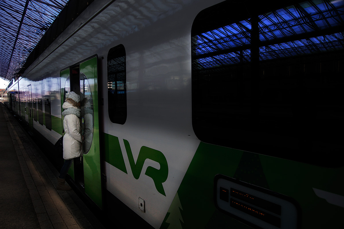 Commuter trains will run on a reduced schedule on Tuesday. Picture: Tony Öhberg for Finland Today