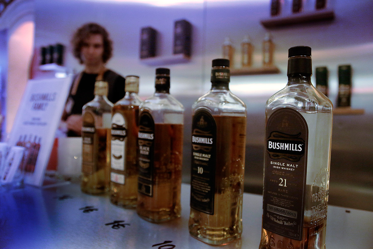 Bushmills 21-year-old single malt Irish whiskey is a drink for the professionals. Picture: Tony Öhberg for Finland Today