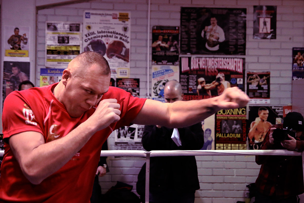 Johann Duhaupas showing a swift jab. Picture: Tony Öhberg for Finland Today