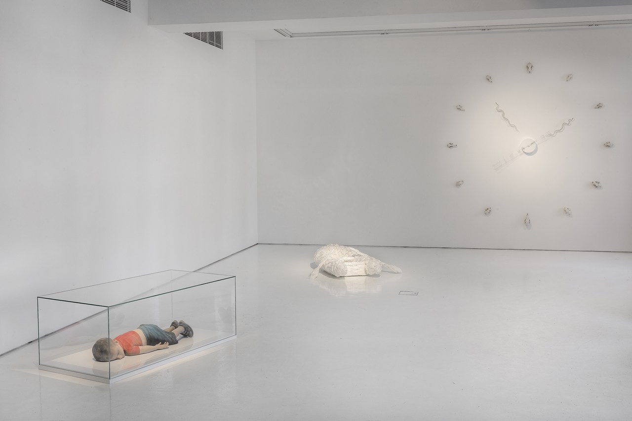 """A view over Pekka Jylhä's exhibition """"We Have Inherited Hope - the Gift of Forgetting"""" at Helsinki Contemporary. Picture: Ilpo Vainionpää"""