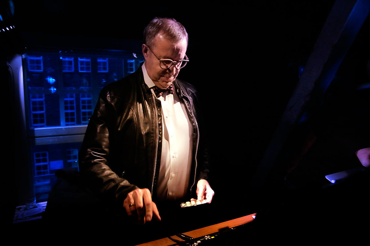 Toomas Hendrik Ilves, the president of Estonia, playing records at Club Kaiku in Helsinki, Finland on April 28 2016. Picture: Tony Öhberg for Finland Today