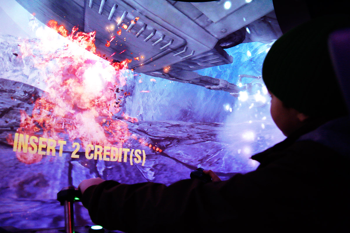 At the renewed gaming hall (Peliholvi) one can play the Star Wars Battle Pod, a cocoon surrounded by a screen of 360 degrees. Picture: Tony Öhberg for Finland Today