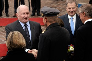 IN PICTURES: The Australian Governor-General Peter Cosgrove Arrives in Finland for the First State V...