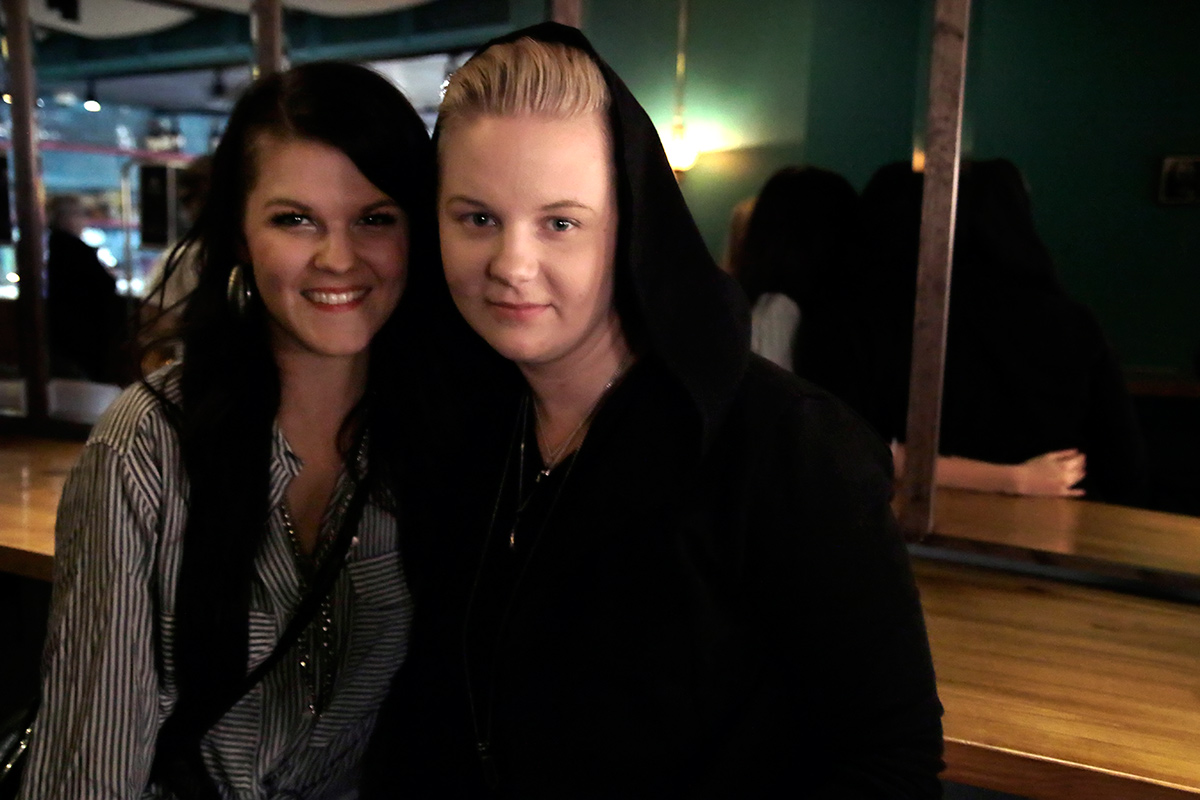 The Finnish pop singer, Sara Aalto, and her partner Meri Sopanen. Picture: Tony Öhberg for Finland Today