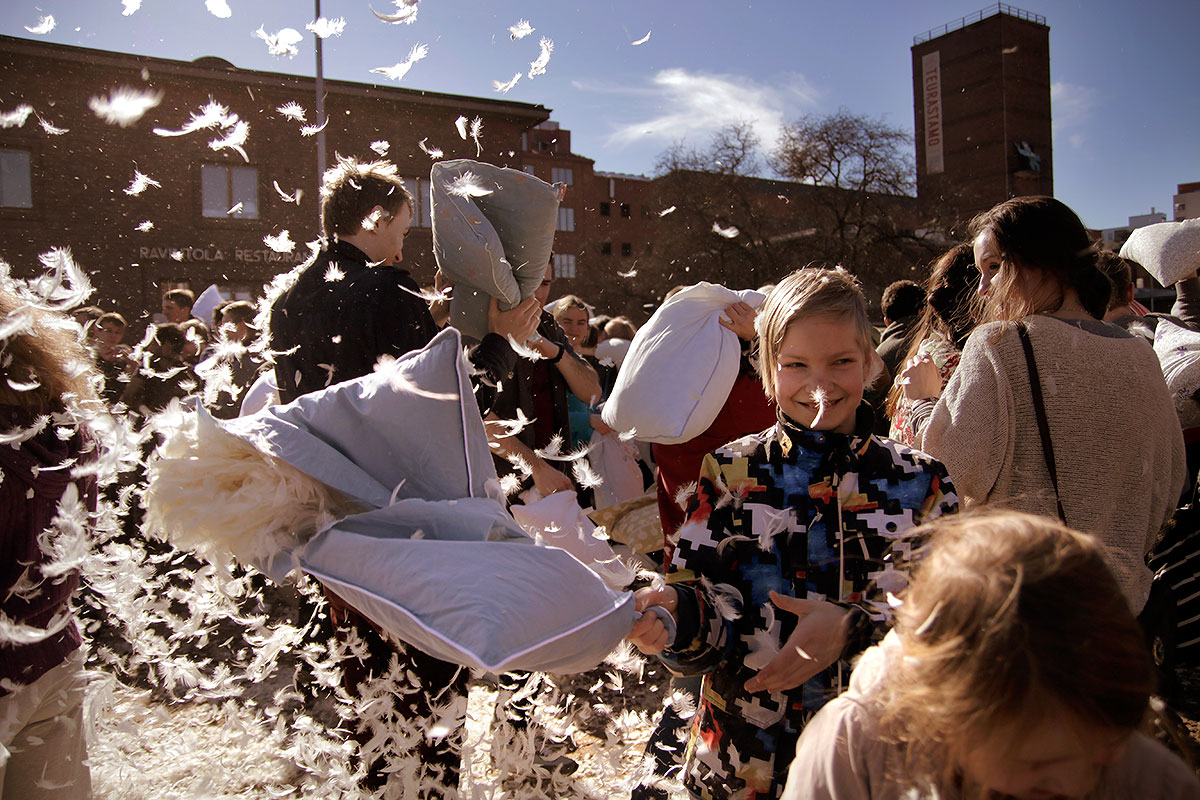Children of all ages participated in the event. Picture: Tony Öhberg for Finland Today