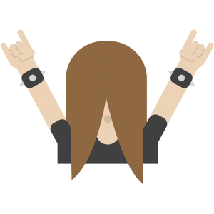 The headbanger emoji. The feeling of banging your head.  In Finland, heavy metal is mainstream. There are more heavy metal bands in Finland per capita than anywhere else.