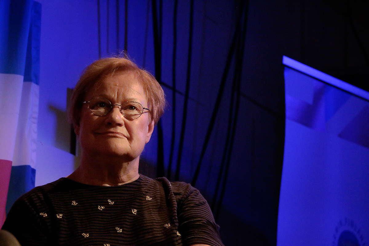 Tarja Halonen, the former president of Finland, discussing education. Picture: Tony Öhberg for Finland Today