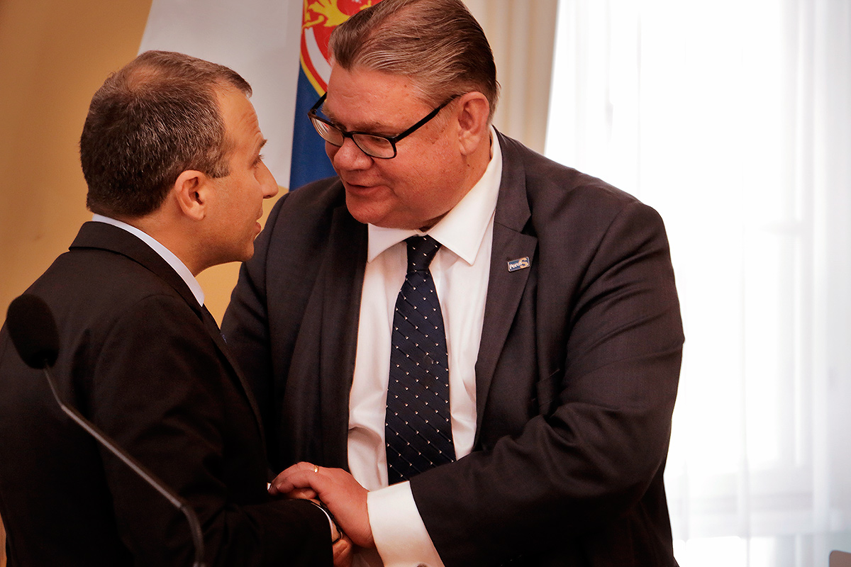 Bassil and Soini. Picture: Tony Öhberg for Finland Today