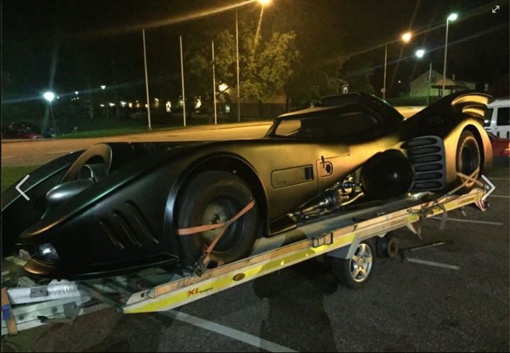 Police of Eastern Finland Bumped Into the Batmobile – Worth One Million Euros