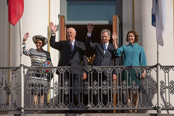 PICTURES: King Harald V and Queen Sonja of Norway Visit Finland