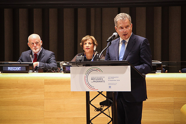 President Niinistö in New York: Responsible Migration Is a Resource We Cannot Afford To Waste