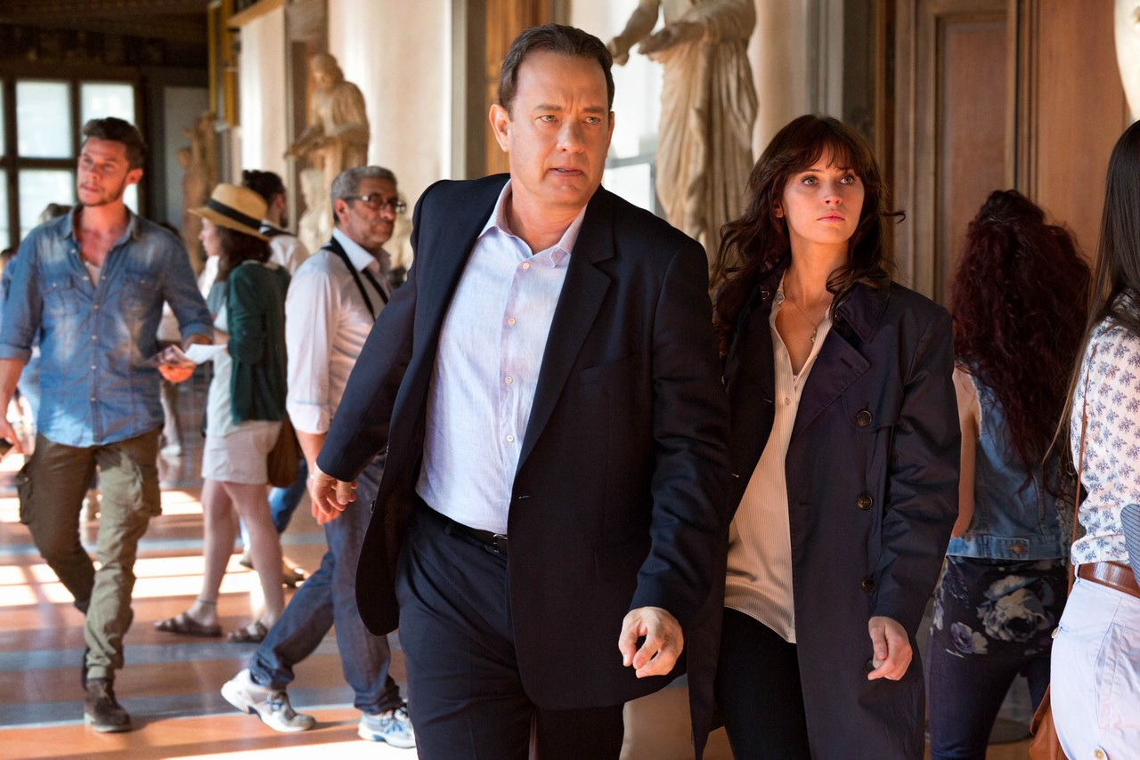 Tom Hanks plays Robert Langdon and Felicity Jones is Dr. Sienna Brooks. Picture: 2015 CTMG, Inc. All rights reserved.