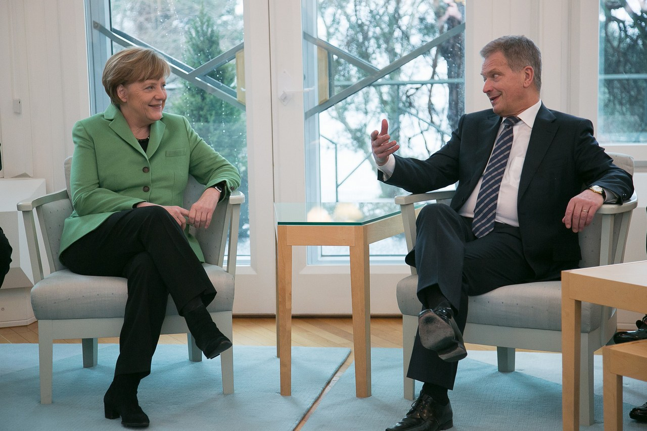 President Sauli Niinistö and Chancellor of Germany Angela Merkel met in Mäntyniemi on March 30 2015. Picture: The Office of the President of the Republic of Finland