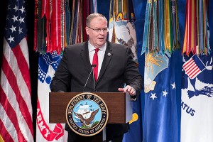 The U.S. Deputy Secretary of Defense Robert Work Will Sign an Agreement on Defense Cooperation Betwe...