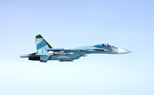 The Finnish Air Force Photograph Two Suspected Airspace Violations By Russian Su-27s on Thursday