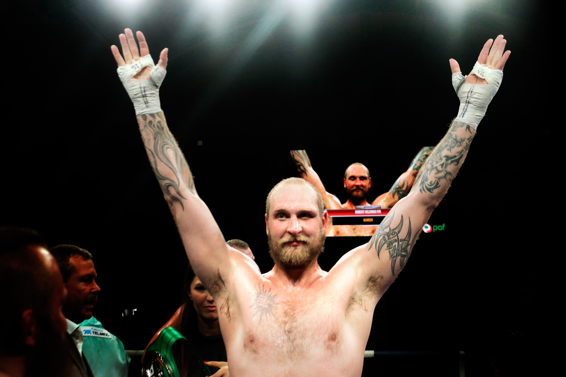 Finnish Heavyweight Boxer Robert Helenius Knocks Down His Polish Opponent Kownacki in the Fourth; Helenius Earns a Shot at the Title