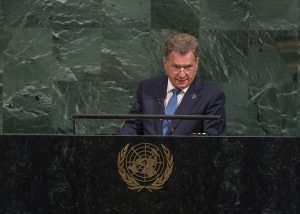 President Niinistö In his UN speech in New York: Gender Equality is a Key Priority in the Finnish Fo...