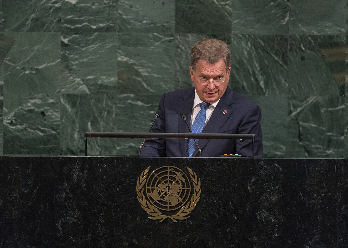 President Niinistö In his UN speech in New York: Gender Equality is a Key Priority in the Finnish Foreign Policy