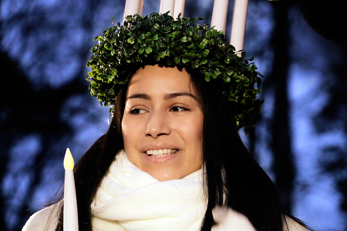 This Year's Lucia Maiden Anna-Kajsa Edström: 'To Me, Finland Means Freedom'