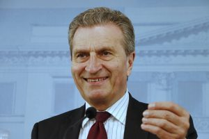 European Commissioner Gunther Oettinger Visits Finland to Ask More Money for the EU Budget