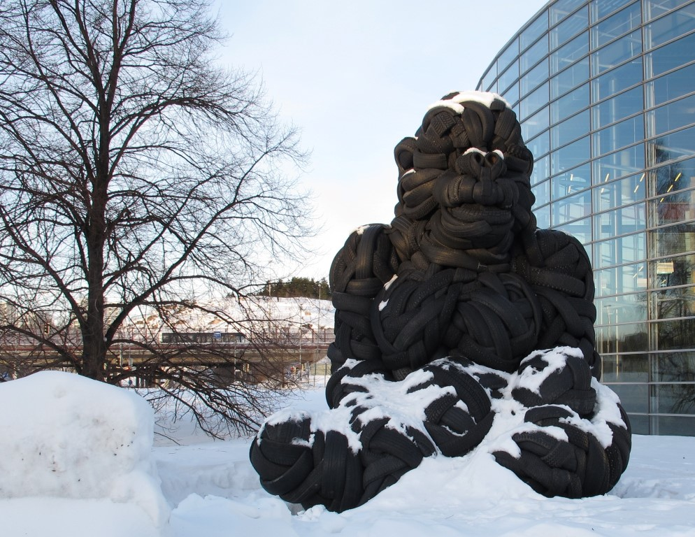 The Man Suspected of Burning Down The Tire Gorilla at Viikki Campus Faces 85,000 Euro Claim for Damages