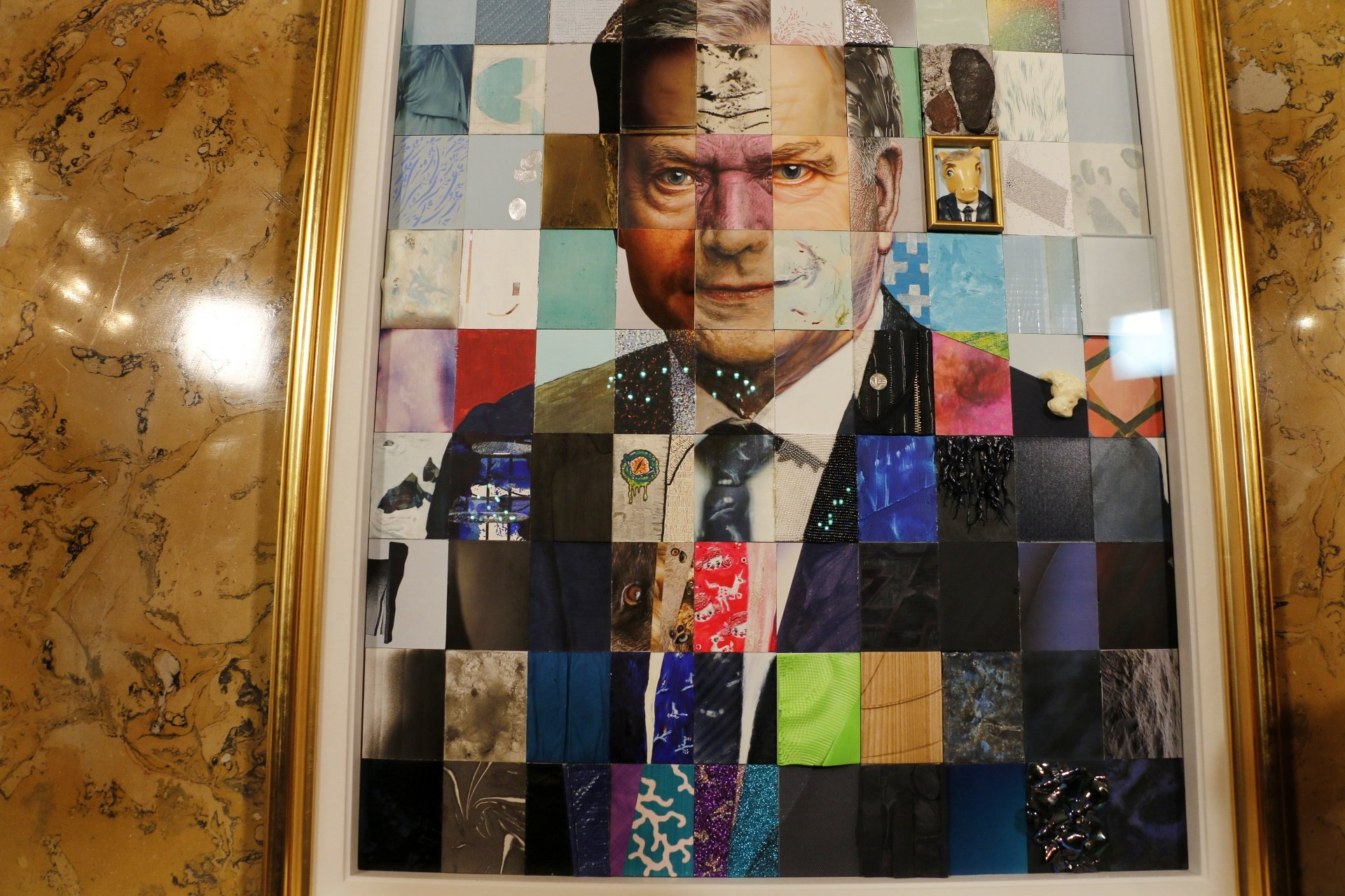 The Portrait of President Sauli Niinistö Is on Display In Ateneum Art Museum