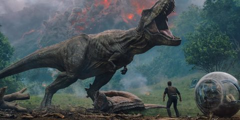 Tyrannosaurus rex as itself. Picture: Universal Studios and Amblin Entertainment, Inc. and Legendary Pictures Productions, LLC.