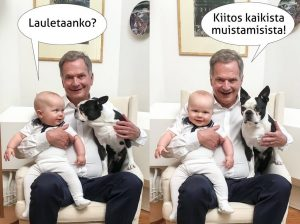A Present for the People! President Niinistö Publishes the First Public Picture of His Son Aaro