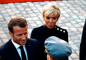 French President Emmanuel Macron Arrives at The Presidential Palace With His Spouse Brigitte - VIEW ...