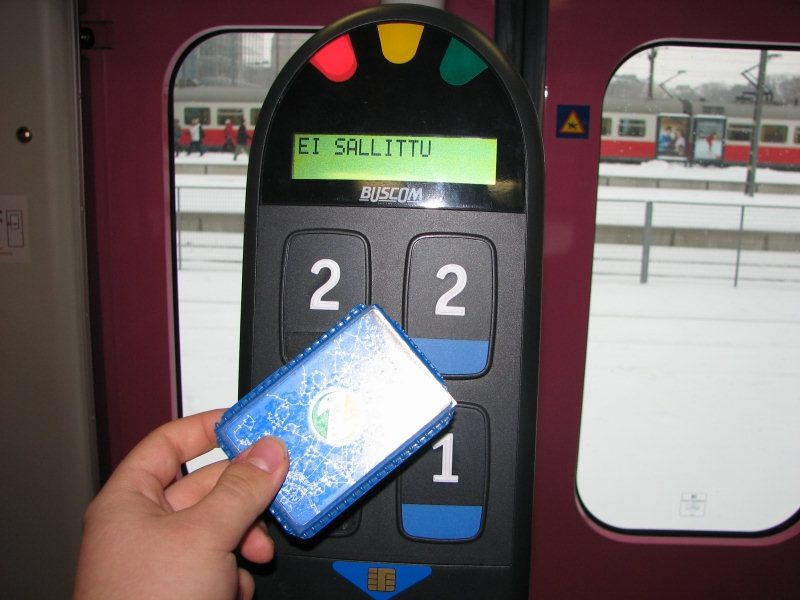 Reloading of Old Helsinki Region Transport Travel Cards to Stop on Monday