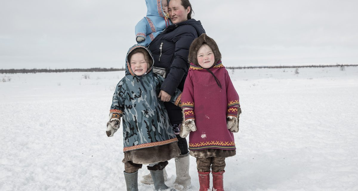 A Photograph of a Family of Small Indigenous Peoples of the Arctic Wins the All About Photo Magazine Competition