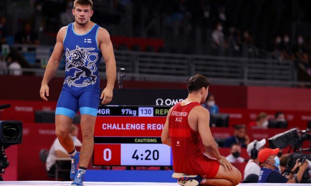 Arvi Savolainen to Wrestle for Bronze Medal on Tuesday