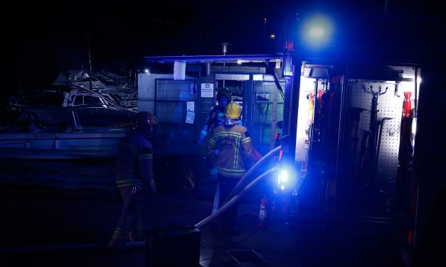Boat Burns in Tokoinranta on Tuesday Morning