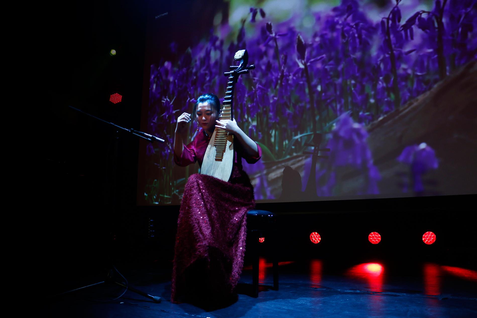Siyang Zhou plays 'Recalling Jiangnan.' Picture: Tony Öhberg for Finland Today
