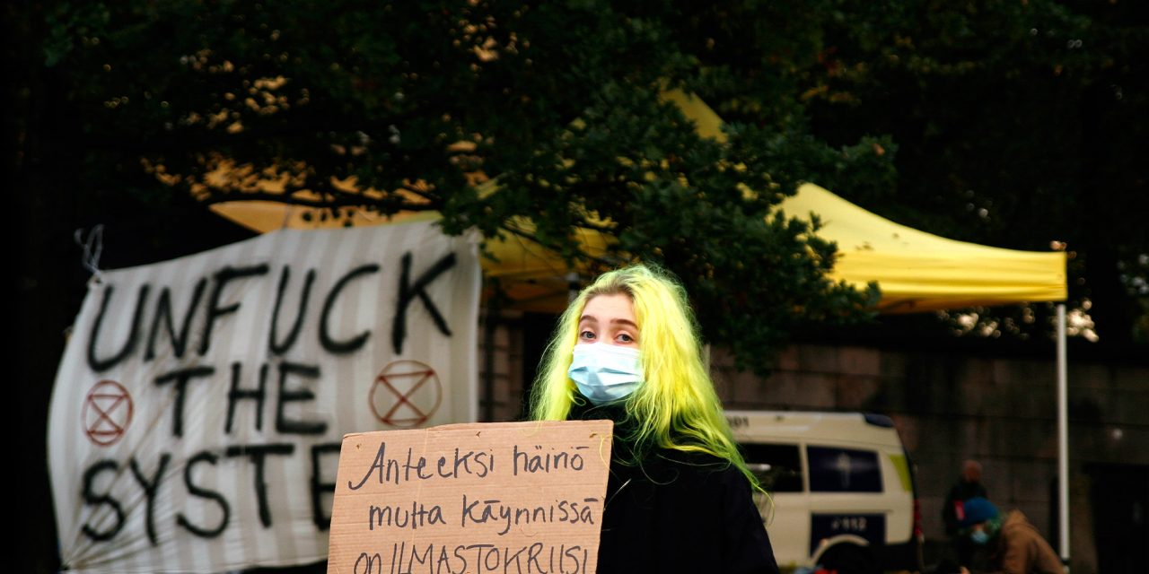 Climate Activists Stop Traffic in Helsinki Center; The Police Use Pepper Spray