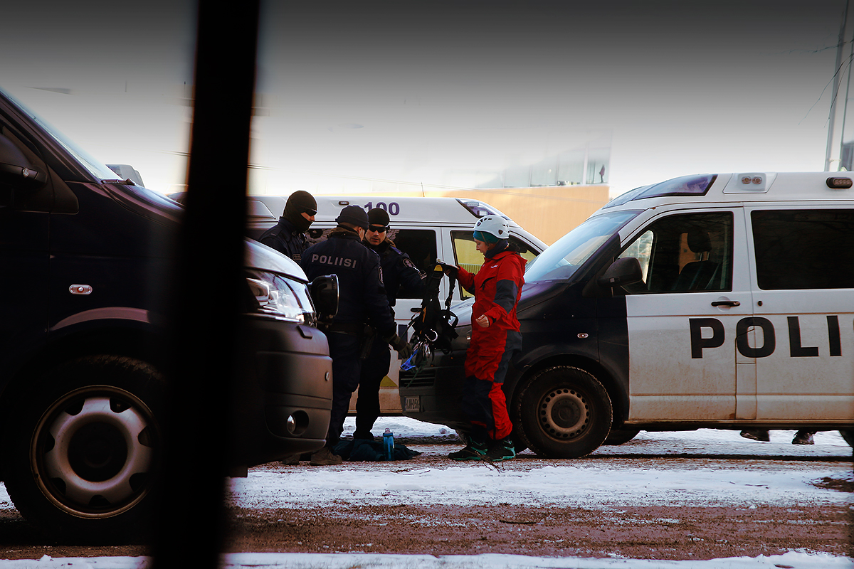 End of the protest. Picture: Tony Öhberg for Finland Today