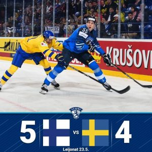 Finland Beats Sweden 5-4 in Ice Hockey World Championship - Faces Russia on Saturday