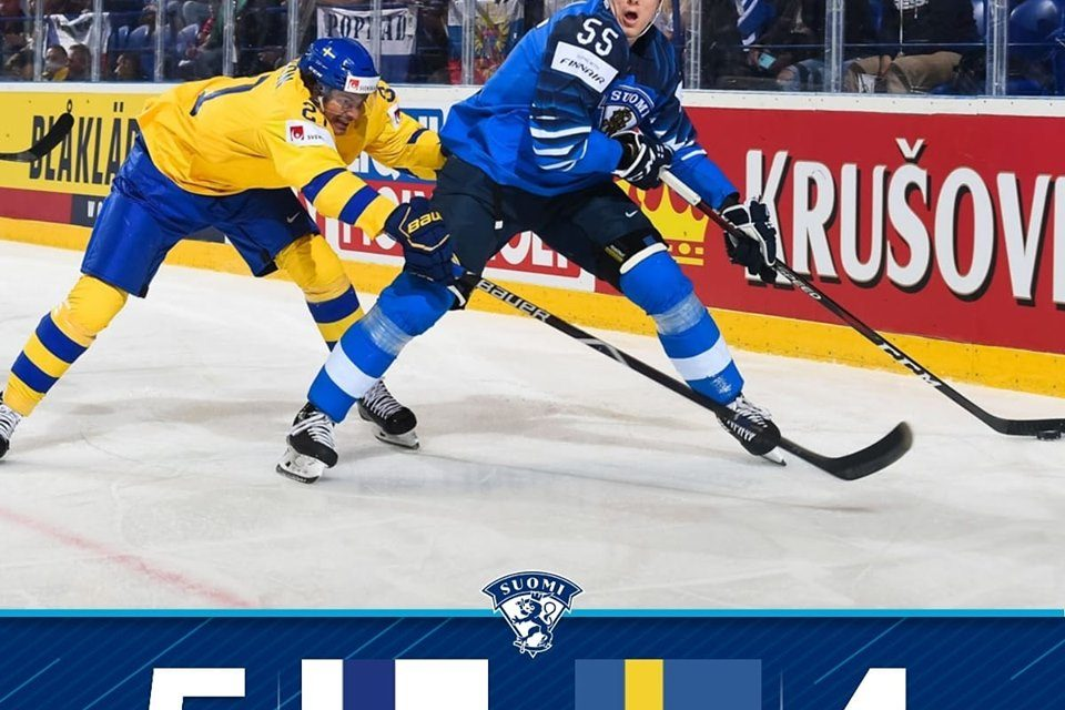 Finland Beats Sweden 5-4 in Ice Hockey World Championship – Faces Russia on Saturday