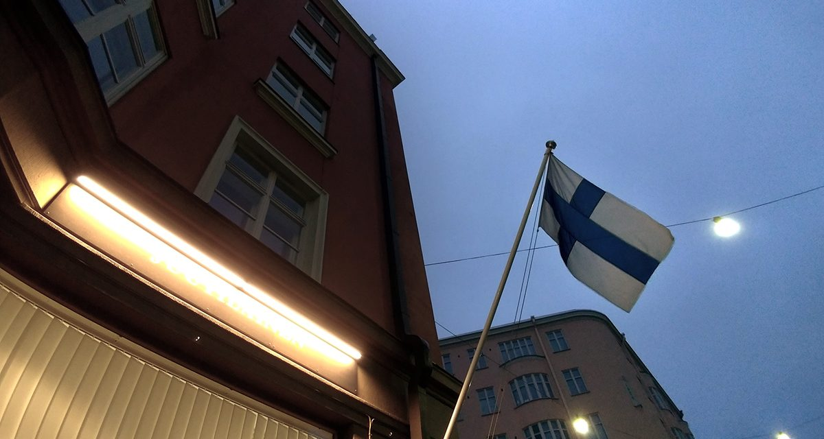 Flags Are Hoisted to Honor Finland-Swedish Identity