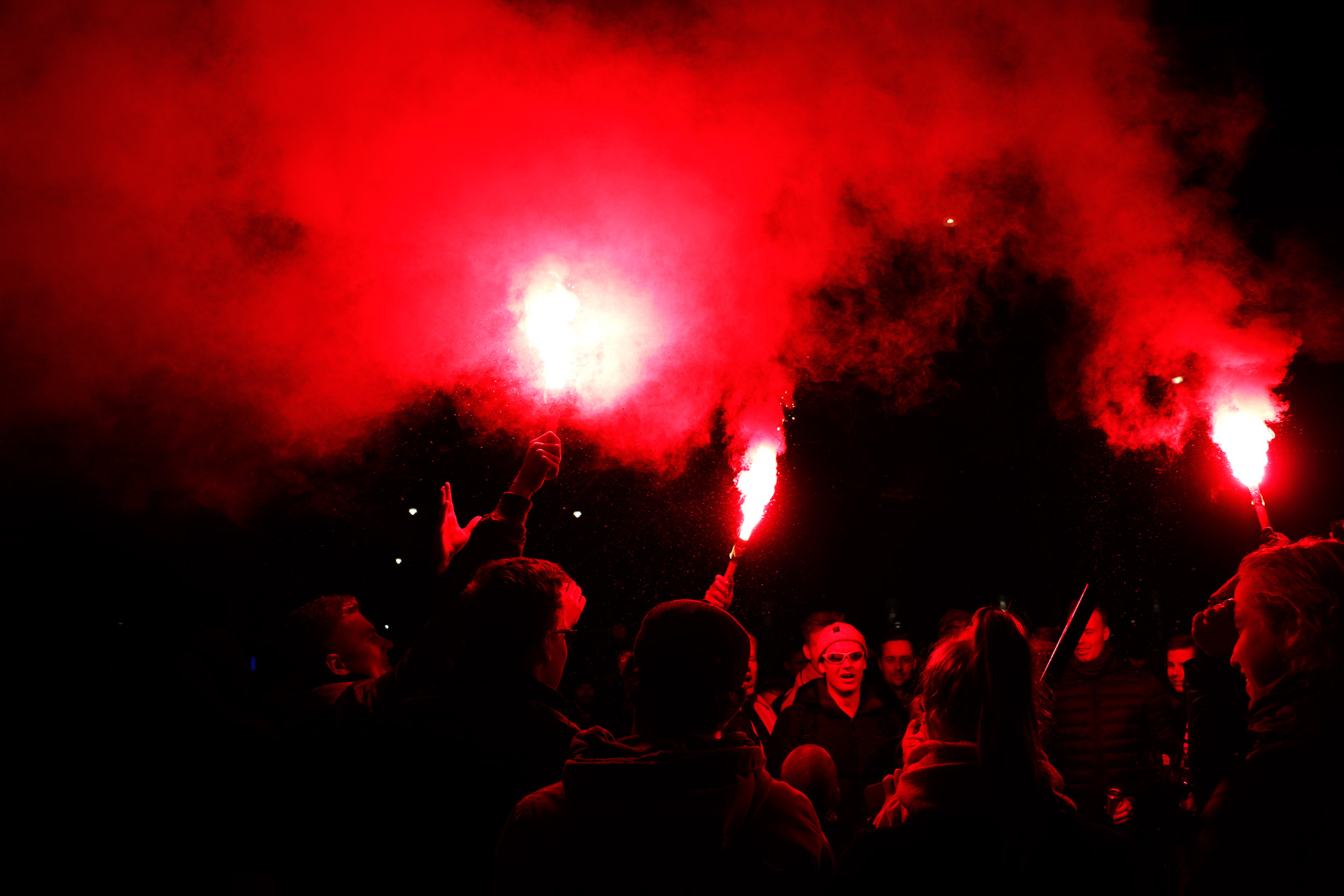 Torches were banned but who cares. Picture: Tony Öhberg for Finland Today