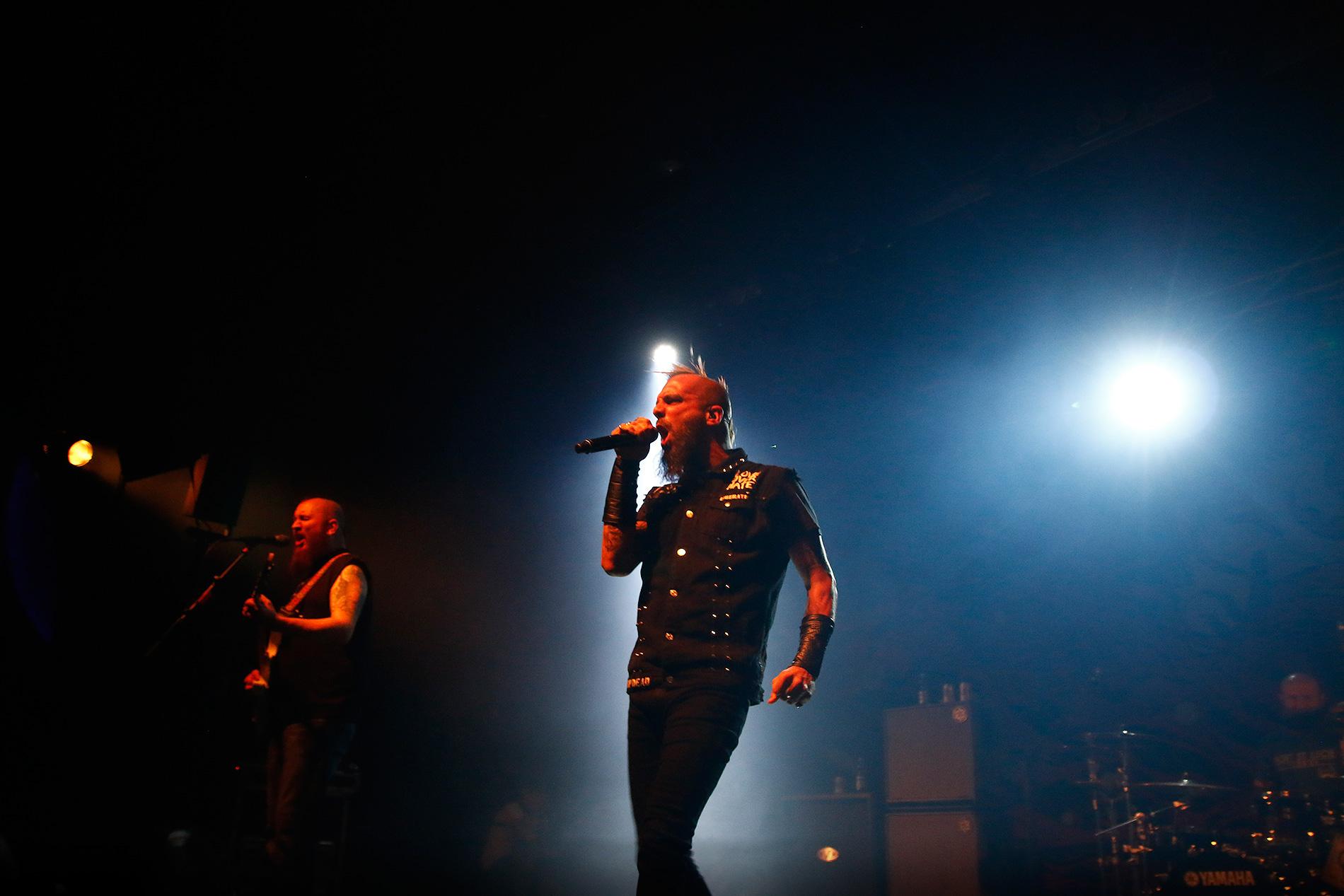 Guitarist Joel Stroetzel (left), vocalist Jesse Leach and drummer Justin Foley. Picture: Tony Öhberg for Finland Today