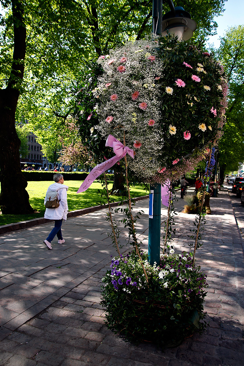 A decoration by Kukkakauppa Stenius. Picture: Tony Öhberg for Finland Today