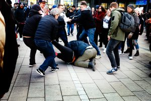 Teenagers Attack Finnish People First Party Chairman Marco De Wit Several Times in the Middle of His...