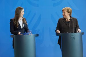 Prime Minister Marin Discusses Plan For EU's Long-Term Budget With Chancellor Merkel; Tentatively, G...