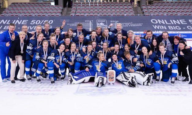 The Finnish National Ice Hockey Team Beats Switzerland for Bronze at Women's Worlds