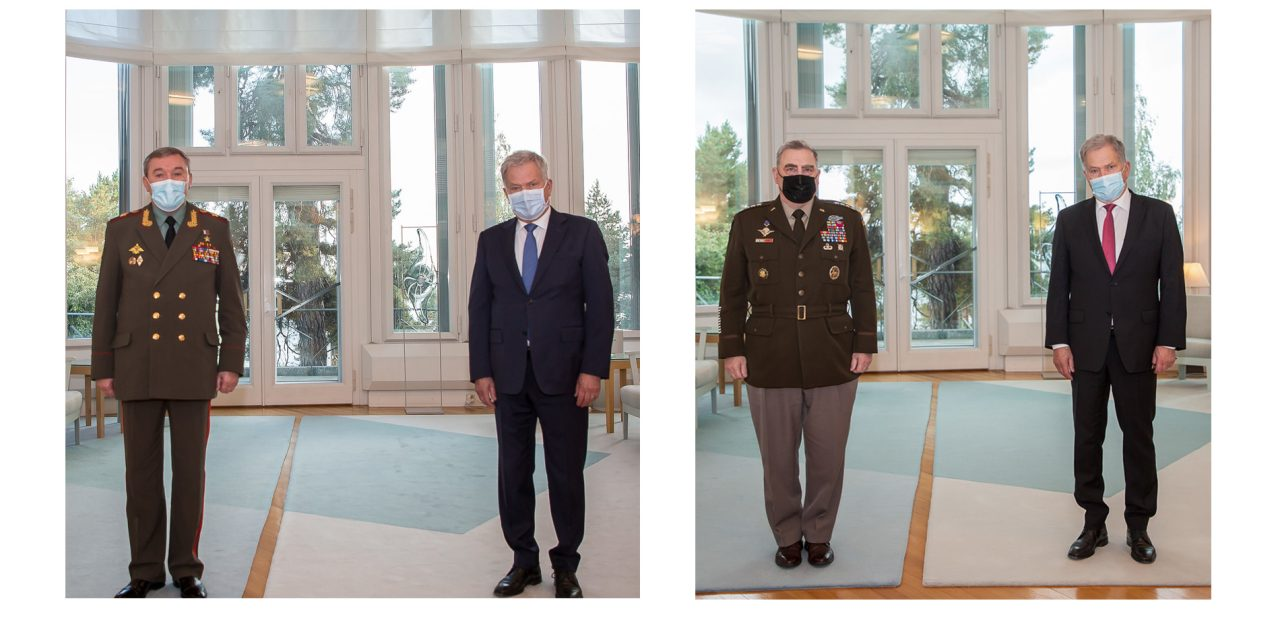 Top Russian and American Military Officers Meet in Finland; Hold Also Talks With President Niinistö