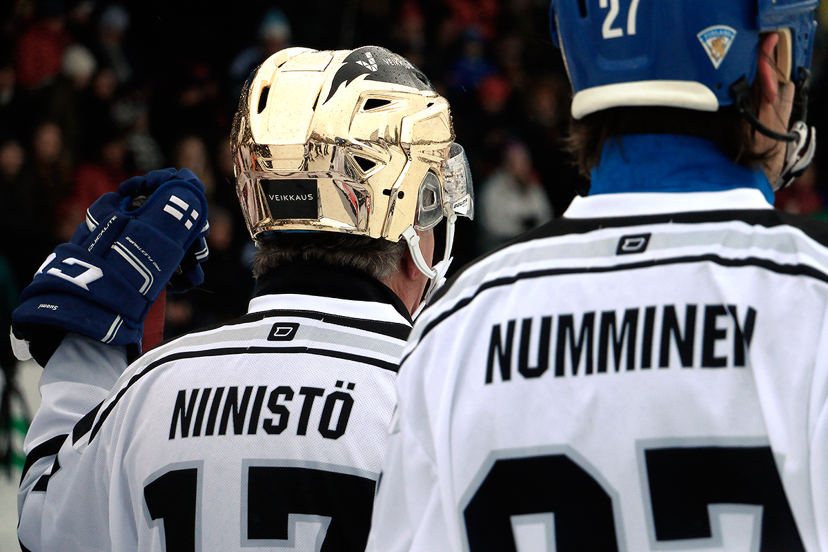 President Niinistö and NHL legend Teppo Numminen. Picture: Tony Öhberg for Finland Today